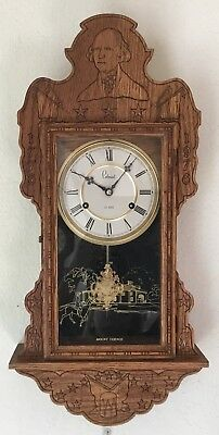 Colonial 1976 George Washington Wooden Wall Clock - 31 Day