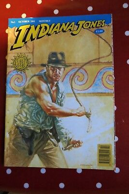 Indiana Jones Monthly UK magazine October 1991 FIRST ISSUE No 1