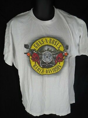 c71c1678318 Harley-Davidson Mens Size XL Guns N Roses White Seattle Short Sleeve Shirt