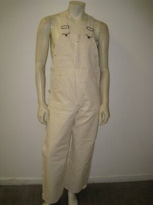 Vintage 1960s DEADSTOCK Overalls MONTGOMERY WARD Sanforized Tag Size 32 X 30