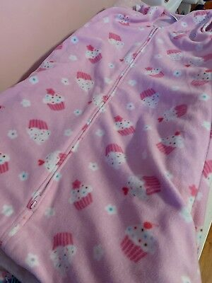 Halo Sleep Sack Pink Cupcakes, Large , 12-18 Months, Fleece, Euc