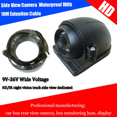 Waterproof IP68 Wired Reverse 12 IR Camera 120°+10m Video Cable Car Bus Sideview