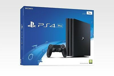 Sony PlayStation PS4 Pro 1TB Console and Controller - Black. New and sealed.