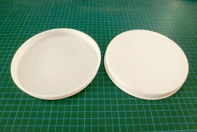 """2x 6"""" 150mm 152.4 Poster Tube End Caps Postal Mailing Packing Plastic Caps White"""