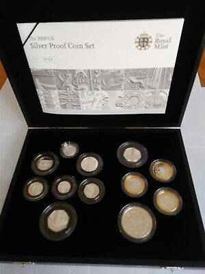 2009 Silver Proof Coin Set Kew Gardens 50p BOX COA 2159 Royal Mint Very rare.