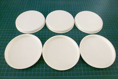 """6x 4"""" 100mm 101.6 Poster Tube End Caps Postal Mailing Packing Plastic Caps White"""