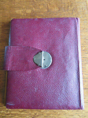 Vintage maroon leather WRITING CASE late 19th century with pen