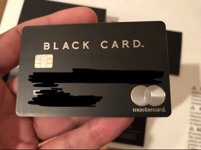 Black Card Metal Mastercard - Like American Express Amex Centurion Credit Card