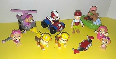 Paw Patrol Rescue Racers Action Figures Vehicles Ryder Rubble Skye toy lot