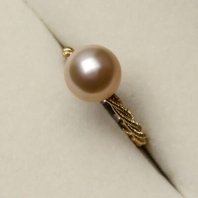 CHIN'S Light Golden South Sea Pearl Ring 925 Sterling Silver 9.85mm Adjustable