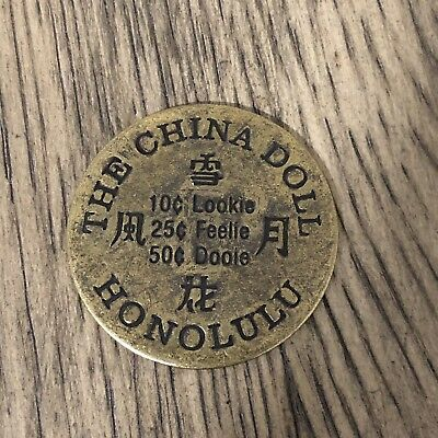 The China Doll Honolulu. Brothel Token