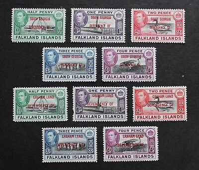 Falkland Islands Grahamland & Sth. Georgia - 1944 Two P/sets Mint Mnh Rr