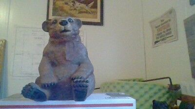 Very large brown bear sitting very cute sitting its about 10 ins tall