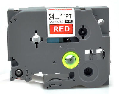 P-touch Label maker tape White on Red TZ 455 TZe-455 For Brother laminated 24mm