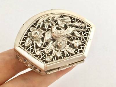 Antique Chinese Solid Silver Trinket Box (R3013A)