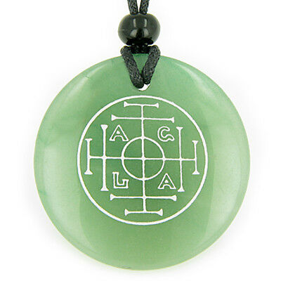 Fortune, Wealth and Success Talisman Green Quartz Magic Pendant Necklace