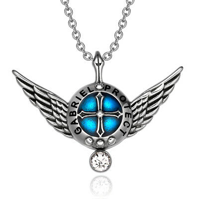 Archangel Gabriel Angel Wings Protection Shield Magic Powers Charm White Crystal