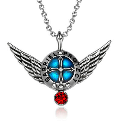 Archangel Gabriel Angel Wings Protection Shield Magic Powers Charm Red Crystal P