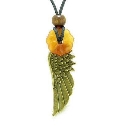 Guardian Angel Wing Protection Powers Amulet Lucky Celtic Flower Donut Charm Car