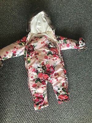 ted baker baby girl snow suit coat 9-12 months