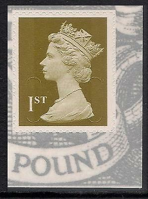 GB 2010 sg U2966 1st Gold Type 3 MA10 MPIL s/a George V booklet stamp MNH