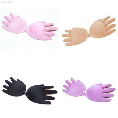 0BC2 Silicone Breathable Fashion Adhesive Bra Beauty Cup A-D Hand Shape