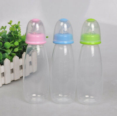 Baby Infant Squeeze Bottle Spoon Food Silicone Feeding Rice Cereal Feeder 240 ML