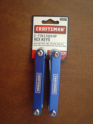 Craftsman 939527 2 7-in-1 Fold-Up Hex Keys (Standard and Metric)