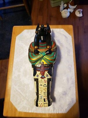 Vintage Beautiful King Tut Sarcophagus with a Ceremonial Knife inside