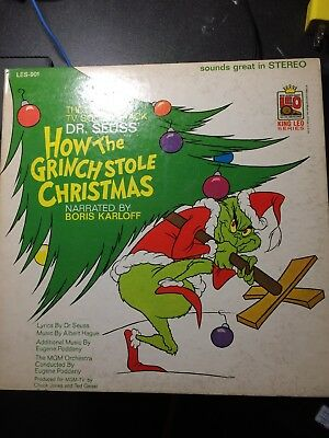 Dr.SUess how the grinch who stole christmas lp leo the lion records 1966