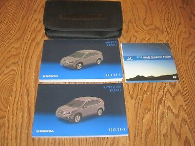 2012 HONDA CRV CR-V OWNERS MANUAL w/supplemental books, DVD and a soft case
