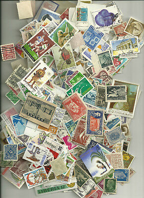 500 Worldwide Stamps,  All Different, No Us  J6