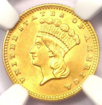 1889 Indian Gold Dollar (G$1 Coin) - NGC Uncirculated Details (UNC MS) - Rare!