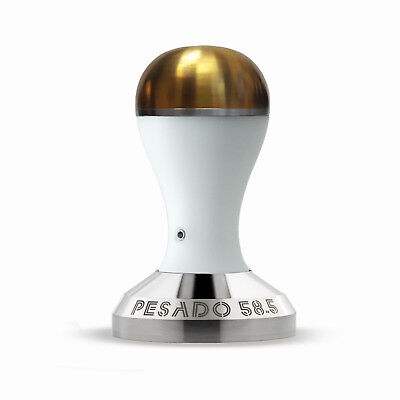 NEW Pesado 58.5mm Coffee Tamper : White and Gold Modular