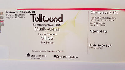 Sting 10.07.2019 München - Tollwood Sommerfestival 2019