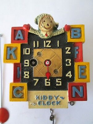 August C. Keebler KIDDY CLOCK ABC Chicago 1930s Bright Colors NR