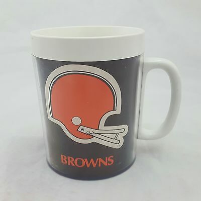 Cleveland Browns NFL Thermal Mug Vintage Thermo Serv Coffee Hot Drink
