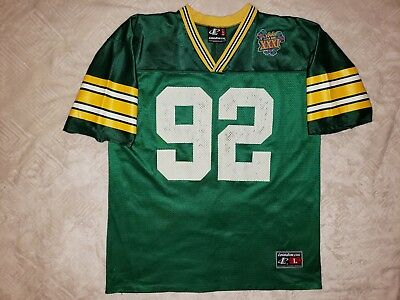 Vintage Rare Reggie White Greenbay Packers Logo Athletic Super Bowl Jersey de0ecb9f7