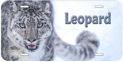 Snow Leopard Any Name Personalized Novelty Car License Plate C03