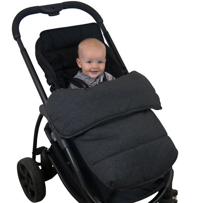 Universal Stay-Put Pram Quilt/Footmuff- Charcoal