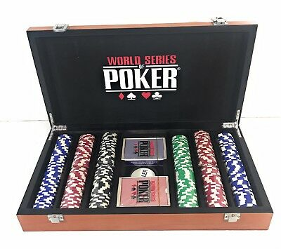 World Series Of Poker Championship Edition Wooden 300 Pc Set