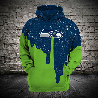 5a2c9e9f NFL FOOTBALL HOODIE 3D Hooded Seattle Seahawks Sweatshirt Jacket ...