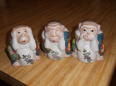 3-Wise Monkeys Statues/Figurines,Speak No Evil,See No Evil,Hear no Evil,Colorful