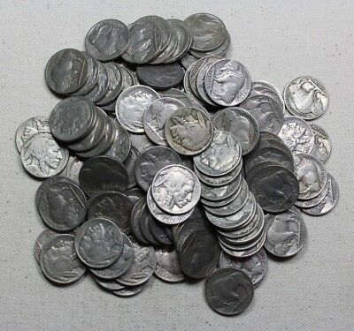 Lot Of $6 Face Value FULL DATE Buffalo Nickels (120 Coins Total)