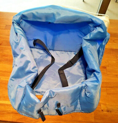Blue Eddie Bauer Travel High Chair Cover with Zippered Storage Bag
