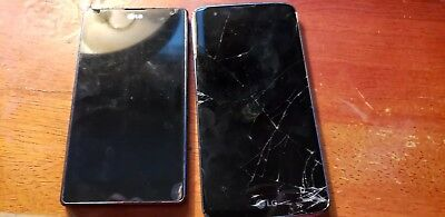 Lot Of 2 LG Phones For Parts One LG-E970 And The Other Unknown With Cracked...