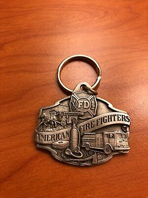 American Firefighters Pewter Keychain