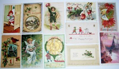 Lot 22 Vintage New Year's Greetings Postcards Early 1900s John Wensch Germany