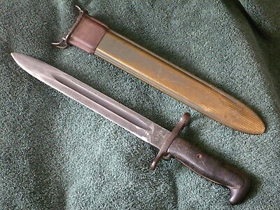 """WWII U.S.Military M-1 Garand AFH Flaming Bomb 10"""" Bayonet With M-7 Scabbard"""