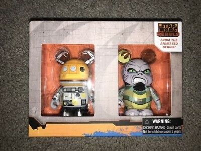 Disney Vinylmation Star Wars Rebels Limited Edition Set of Two. New